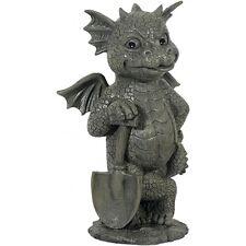 Gartendrachen mit Spaten Drachenfiguren Drachen Figuren Dragon Garten Gargoyle