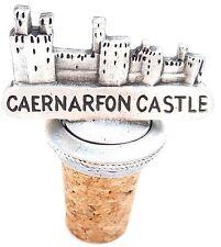 Caernarfon Castle Handcrafted From English Pewter Bottle Stopper + Gift Bag