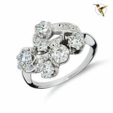 1.23ctw Diamond 14k White Gold Ring