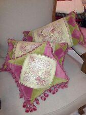 """French Country Shabby Cushion Pillow 30x30cm (12"""") Velvet Tapestry"""