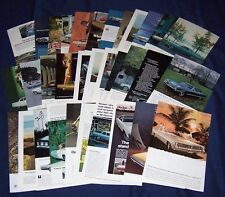 Lot of 33 Car Ads ~All from the SIXTIES 1960-1969 Buick,Thunderbird,Caddy,Olds++