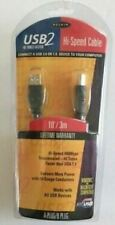 New BELKIN Printer Cable USB 2 High-Speed 2.0 Cable 10 FOOT USB A Plug to B Plug