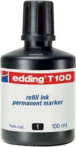 edding T100 Permanentmarker Nachfülltinte - Inhalt: 100ml - Farbe: schwarz