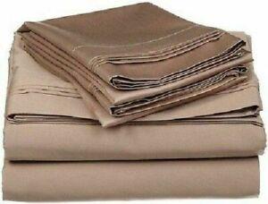 Taupe Solid Split Corner Bed Skirt Choose Drop Length US Size 800 Count