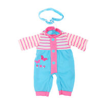 Lovely Rompers Hairband Clothes for 14inch Wellie Wisher AG American Doll Doll