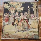 Vintage Belgium Moon Dance Tapestry 39 X 38 French Victorian Dancing People Art