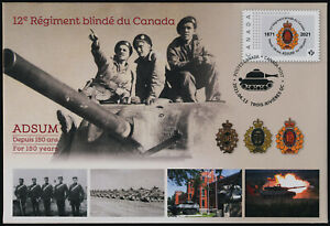 Canada pre-paid Commemorative envelope - 12th Regiment of Canada, Tank