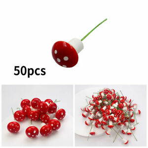 50Pcs/Set Mini Toadstool Mushroom Fairy Garden Ornament Decoration Crafts Tool