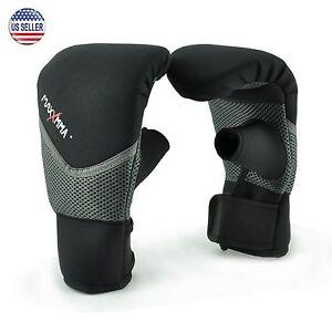 MaxxMMA Neoprene Washable Heavy Bag Gloves - Boxing Training, S/M or L/XL