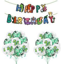 Dinosaur Happy Birthday Latex Balloon Banner Hanging Bunting Party Garland Decor