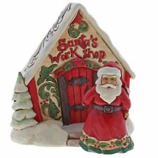 Jim Shore Christmas Santa & Workshop Mini Set/2 - Weihnachtsmann