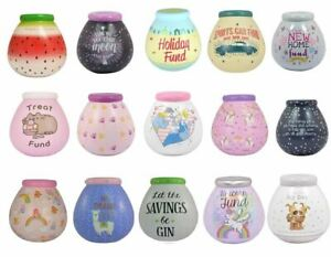 Pot of Dreams Ceramic Money Piggy Box Savings Bank - Over 50 Designs Available!