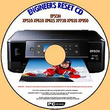 EPSON XP510 XP615 XP710 XP810 XP950 WASTE INK PAD COUNTER ENGINEERS RESET PC CD