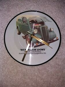 """Teddy Bears - Jody Reynolds - Picture Disc - 7"""" Vinyl  Wall Clock made to order"""