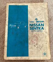 1983 Datsun Nissan Sentra Service Shop Repair Manual
