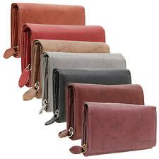 RFID Schutz Portemonnaie Leder Damen Accessoires Geldbörse Geldbeutel 5 Farben