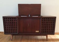 Vintage Mid Century Zenith Console with Record Player and AM/FM Tuner