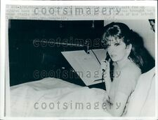 1969 Actress Gina Lollobrigida Does Voiceover From Hospital Bed Press Photo