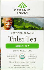 Green Tulsi Tea, Organic India, 3 x 18 tea bags