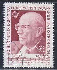 Austria 1980 CTO NH Mi 1652 Sc 1160 Robert Stolz ,composer.Europa CEPT