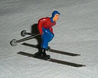 """VINTAGE LEAD BARCLAY """"MAN ON SKIS IN RED AND BLUE BLUE"""" B190 Near Mint Free Ship"""