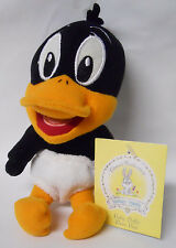 1999 Warner Bros Studio Store Baby Daffy Duck Mini Bean Bag-Beanie