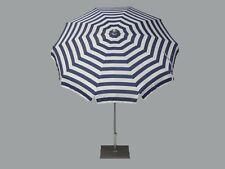 Maffei ombrellone palo centrale Inox Art.92 riga bianco/blu dralon d.200 cm