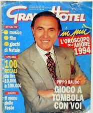 RIVISTA SETTIMANALE GRAND HOTEL N.51 1993 PIPPO BAUDO MARIA GIOVANNA ELMI