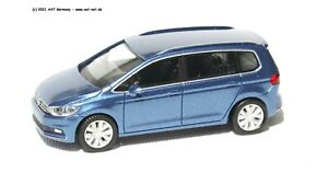 Herpa H0 - 038492 - VW Touran Pacific Bleu Métallique Neuf & Emballage D'Origine