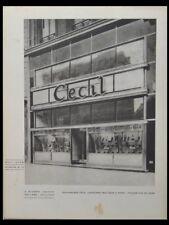BOUTIQUE CHAUSSURES A PARIS, CECIL - 1930 - 3 PLANCHES, BLOMME, ART DECO