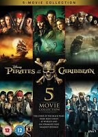 PIRATES OF THE CARIBBEAN 1-5 (2003-2017)  5x  Boxset Johnny Depp - R2 DVD not US