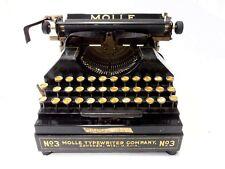 ►Antigua maquina de escribir teclado español MOLLE 3 rare circa 1914 TYPEWRITER►