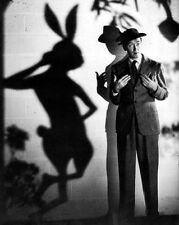 "New 11x14 Photo: James ""Jimmy"" Stewart with Harvey the Rabbit, ""Harvey"" 1950"