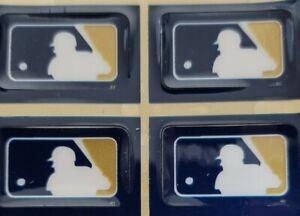 4 MLB MILWAUKEE BREWERS LOGO HELMET STICKER DECALS Size 1 3/8 x 7/8