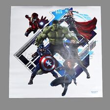 Fashion 3D Captain America Marvel Avengers Wall Stickers Decals Kids Room Decor