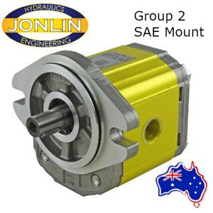 """Hydraulic Gear Pump Group 2 SAE A Mount 5/8"""" Keyed Shaft 4.2CC - 39.6CC - BSPP"""