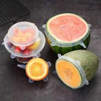 6 Pcs/Set Food Silicone Cover Universal Silicone Lids For Cookware Bowl Pot New