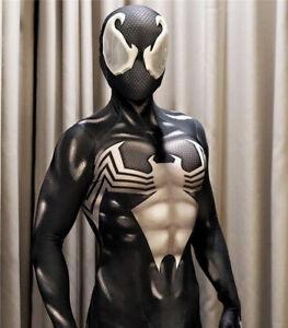 Black Venom Spiderman Cosplay Costume Jumpsuit Spider-man Zentai Suit Halloween