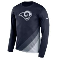 Nike LA Rams Sideline Legend Prism Performance Long Sleeve Shirt Navy Men's Sz M