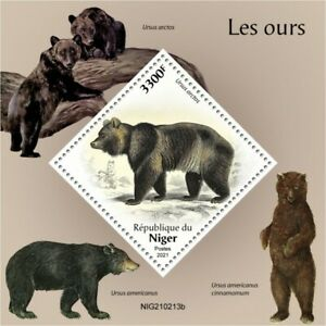Niger 2021 MNH Wild Animals Stamps Bears Bear Brown Bear 1v S/S