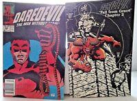 Vintage Lot/2 Marvel~DAREDEVIL Comic Books~ALL VGC~Bagged & Boarded