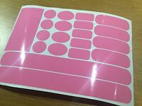 PINK Patch Frame Fork Chainstay cable rub protector set sticker Mountain Bike