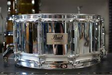 1980s Pearl 6.5x14 Steel Free Floating Snare Drum