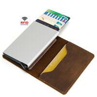 Men's RFID Blocking Trifold Wallet Leather Slim Pocket ID Credit Card Holder New