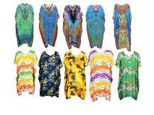 Ladies Beach Top Abaya Gown Tunic Holiday Kaftan Dress Free Size 14,16,18,20-26
