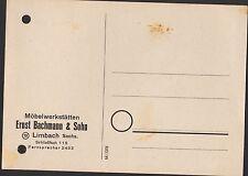 LIMBACH, Postkarte 1952, Ernst Bachmann & Sohn Möbel-Werkstätten