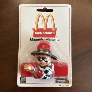 Vintage McDonald's Hamburglar Clip Fridge Refrigerator Magnet Arjon 51613