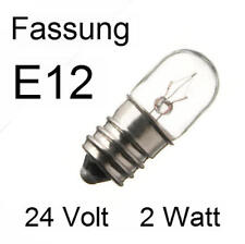 5x Glühbirne Glühlampe Lampe Röhre Röhrenlampe Ersatz Spezial E12 24V 2W  263404