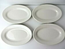 Vtg Buffalo China Restaurant Ware Sm Oval Plate Lot of 4 ~ 9.5 x 6.5 White #4817