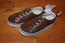 NWT Gymboree Woodland Party Size 10 Brown Faux Suede Lace Tennis Shoes